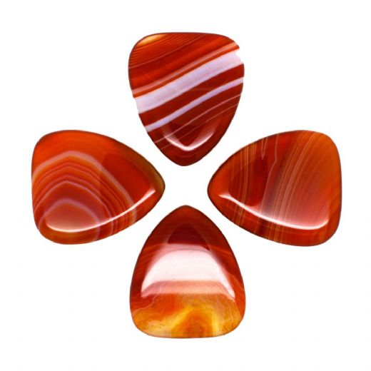 Agate Tones Red Banded Agate 4 Guitar Picks